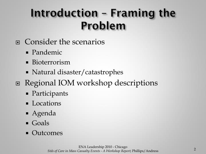Introduction – Framing the Problem