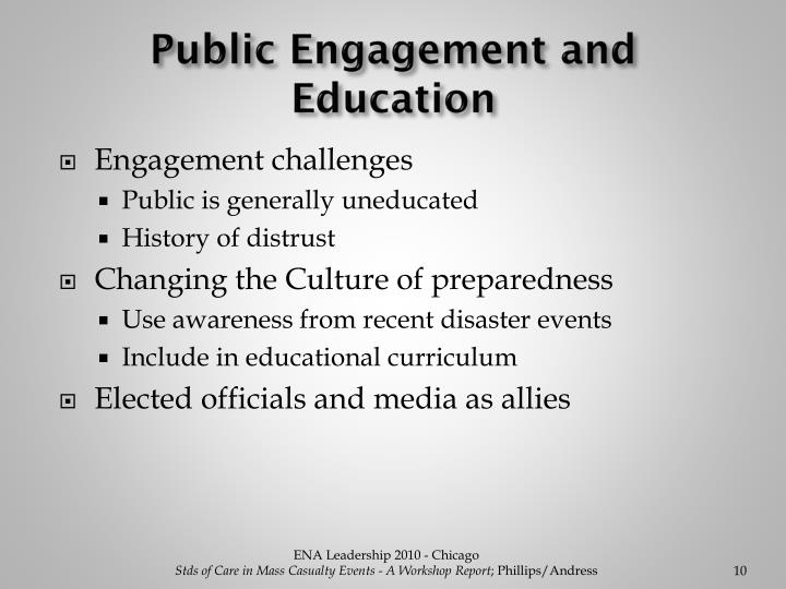 Public Engagement and Education