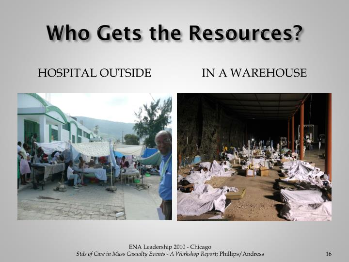 Who Gets the Resources?