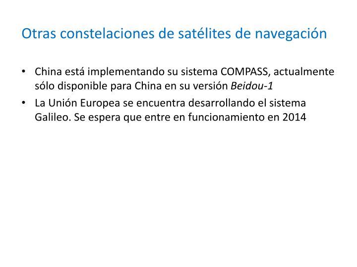 Otras constelaciones de satélites de navegación