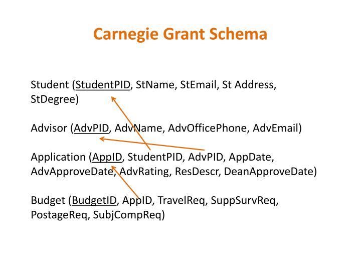 Carnegie Grant Schema