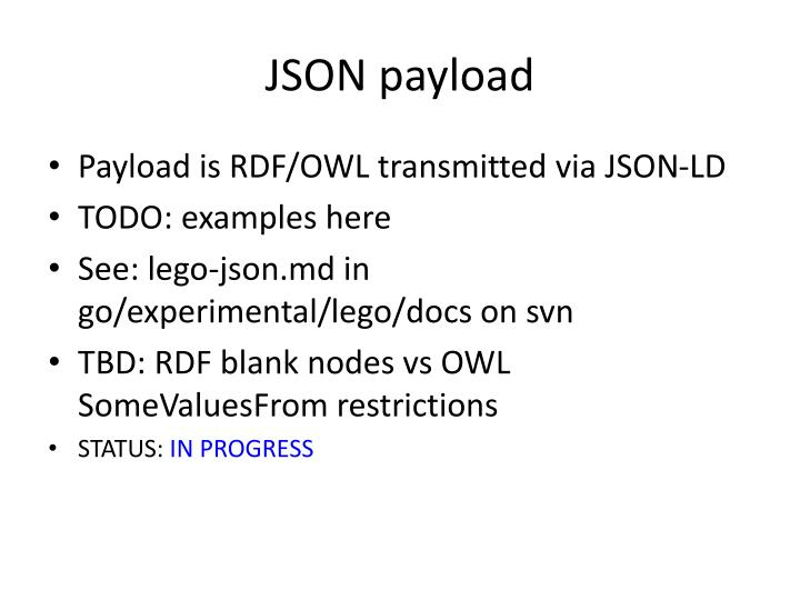 JSON payload