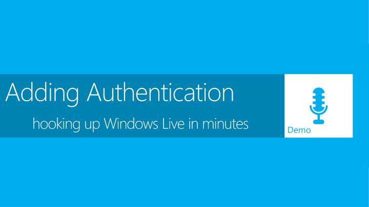 Adding Authentication