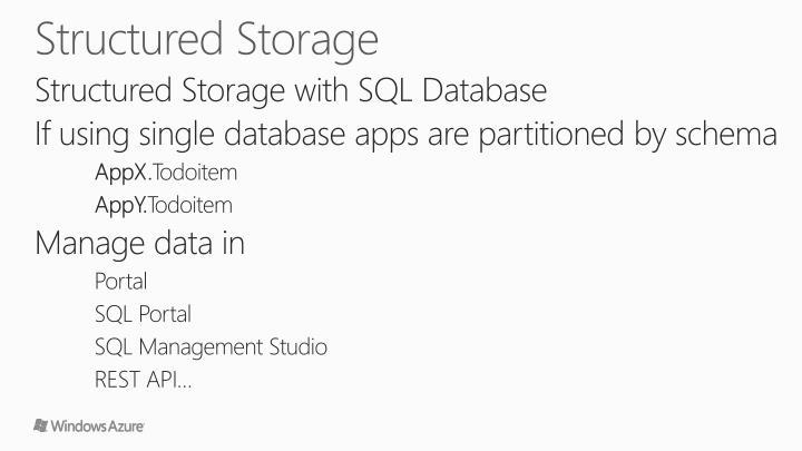 Structured Storage