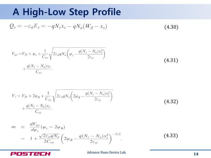 A High-Low Step Profile