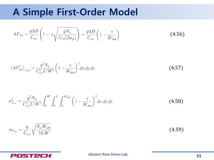 A Simple First-Order Model