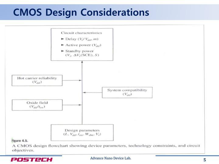 CMOS Design Considerations