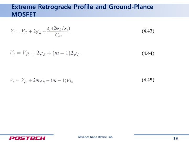 Extreme Retrograde Profile and Ground-