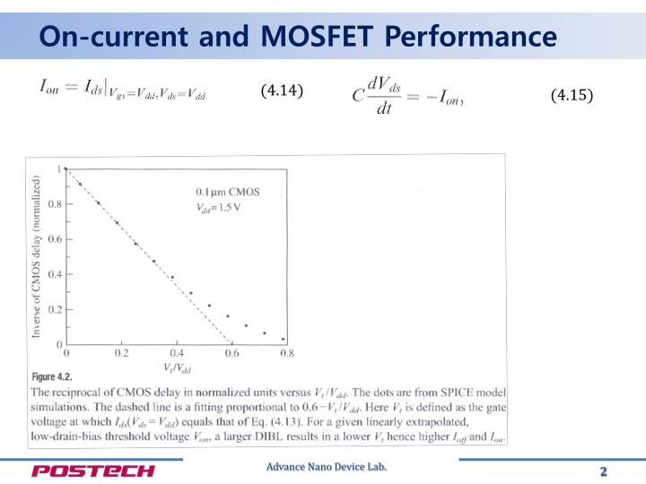 On current and mosfet performance