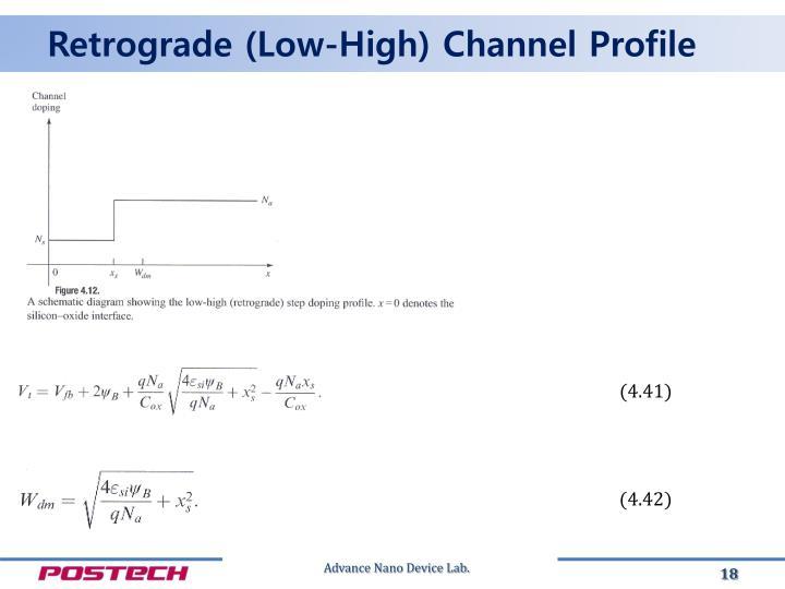 Retrograde (Low-High) Channel Profile