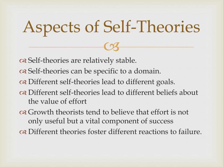 Aspects of Self-Theories