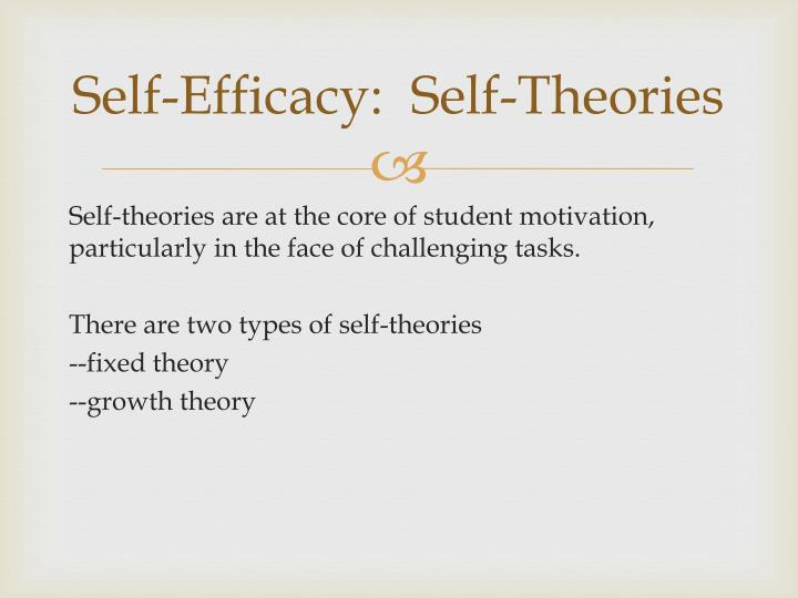 Self-Efficacy:  Self-Theories