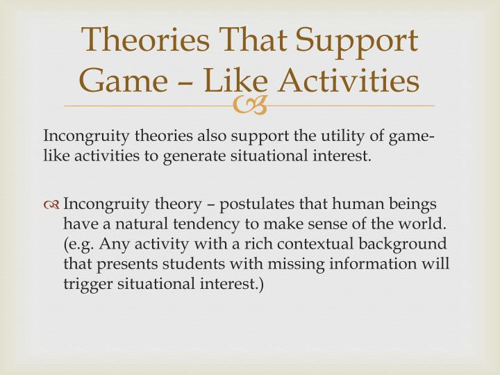 Theories That Support Game – Like Activities