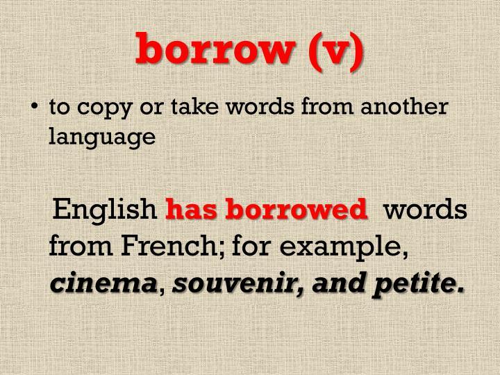 borrow (v)