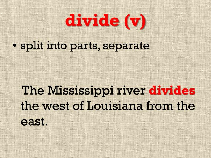 divide (v)