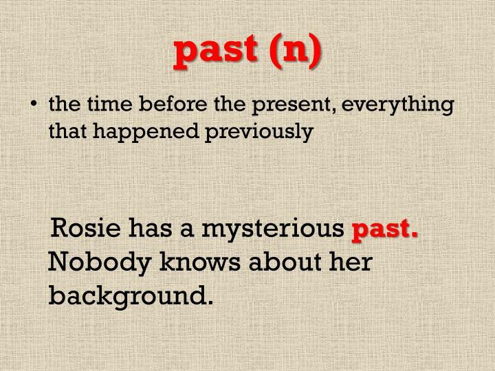 past (n)