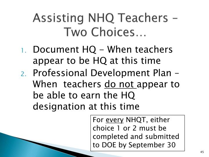Ppt title ii a highly qualified teachers powerpoint for Housse requirements