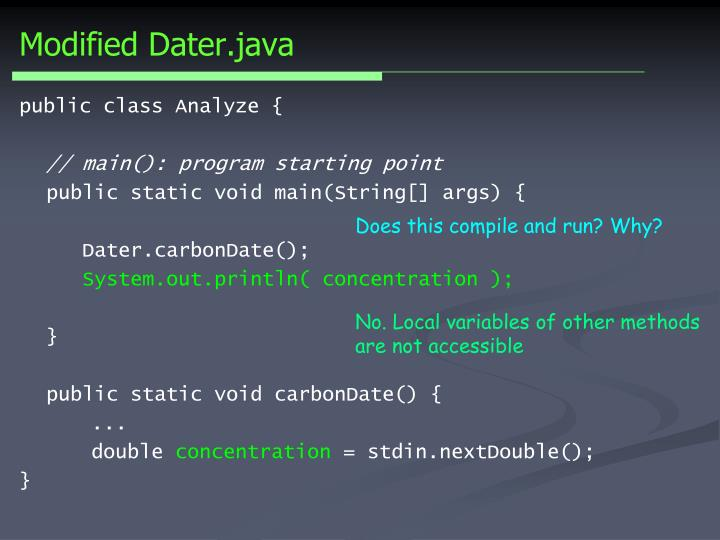 Modified Dater.java