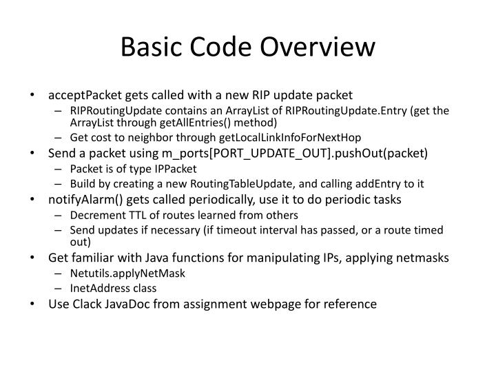 Basic Code Overview