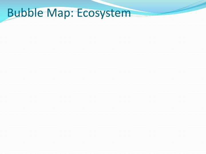Bubble Map: Ecosystem