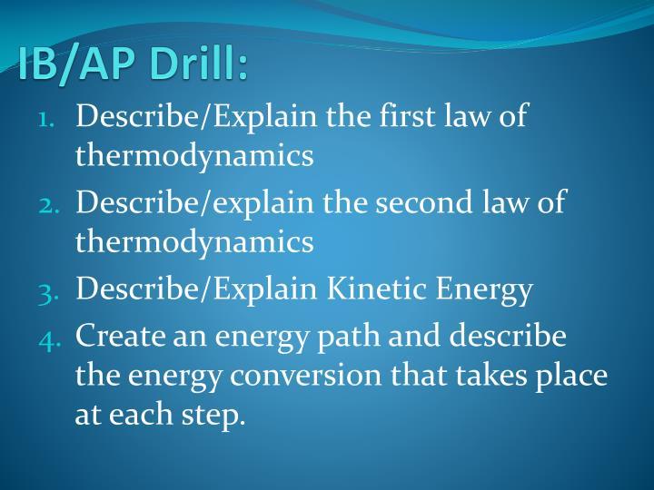 IB/AP Drill: