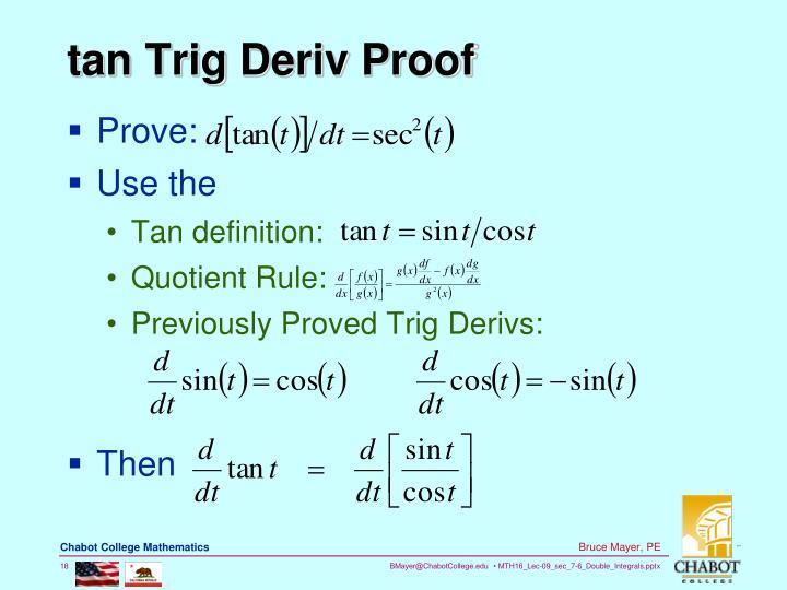 quotient rule proof - ...