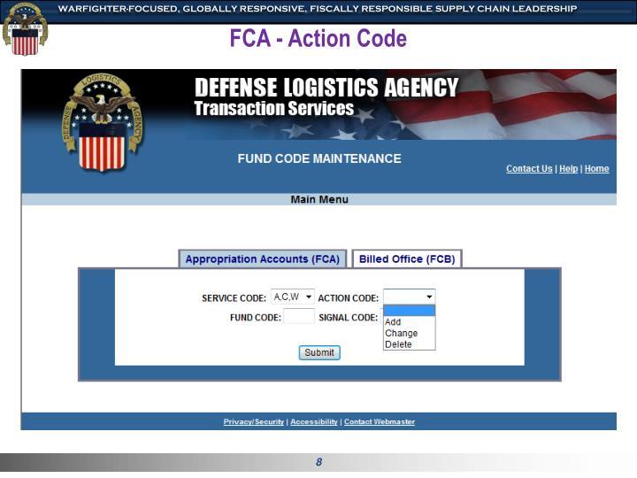 FCA - Action Code