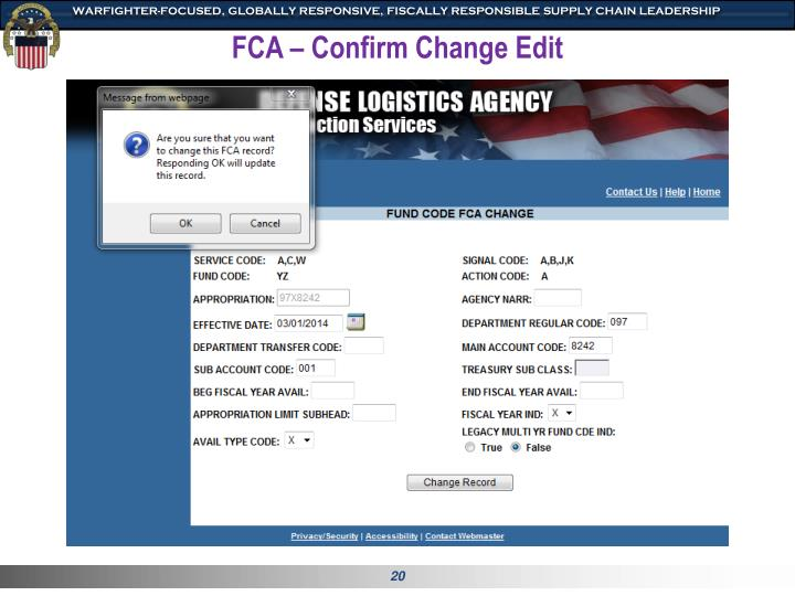 FCA – Confirm