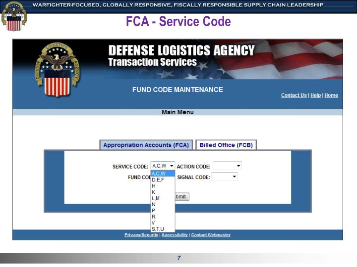 FCA - Service Code