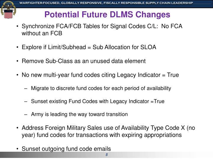 Potential Future DLMS Changes
