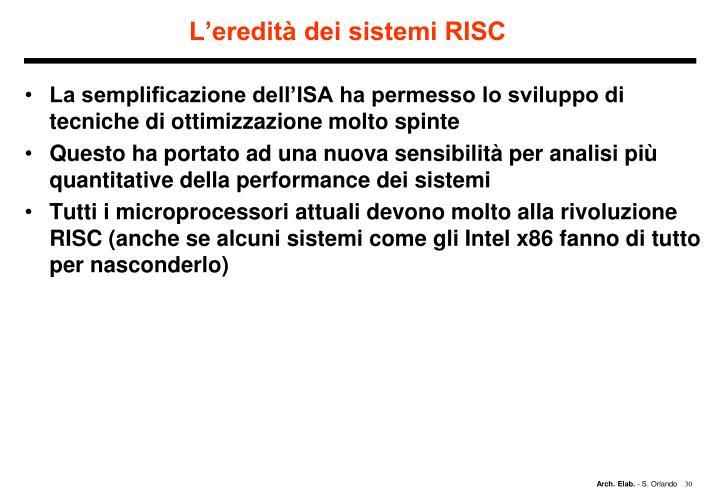 L'eredità dei sistemi RISC