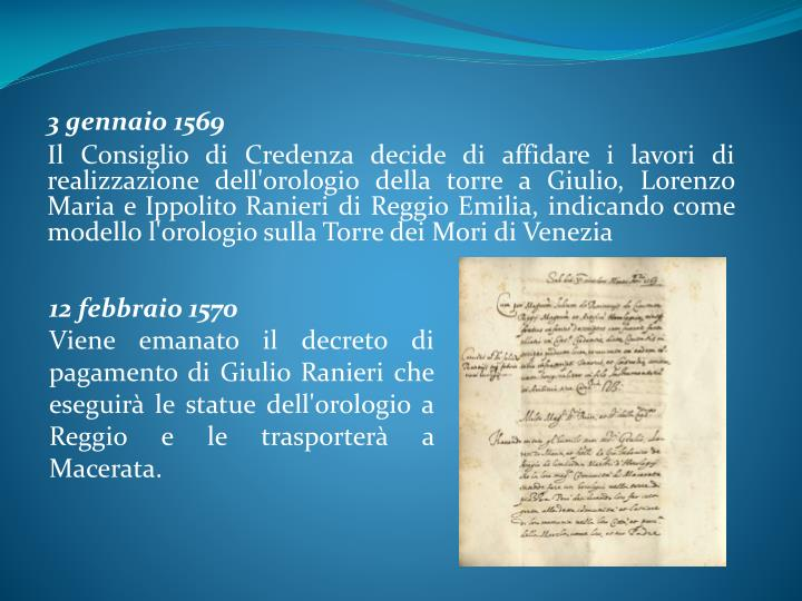 3 gennaio 1569