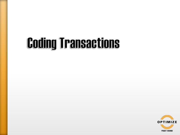 Coding Transactions