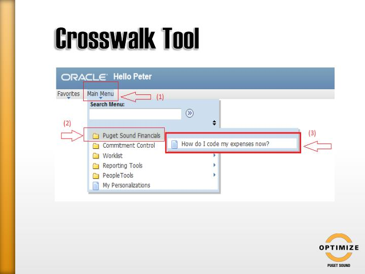 Crosswalk Tool