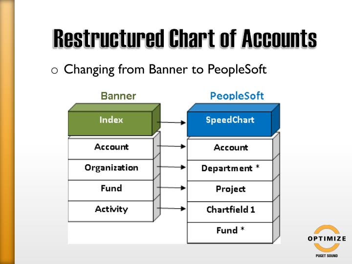 Restructured Chart of Accounts