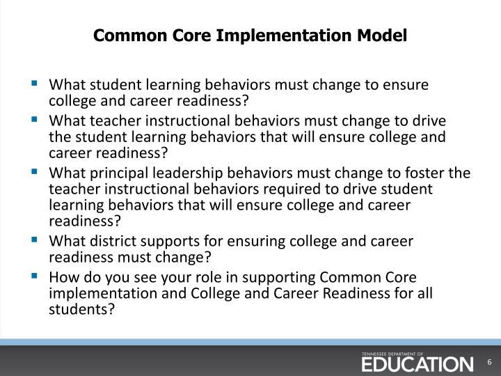 Common Core Implementation Model