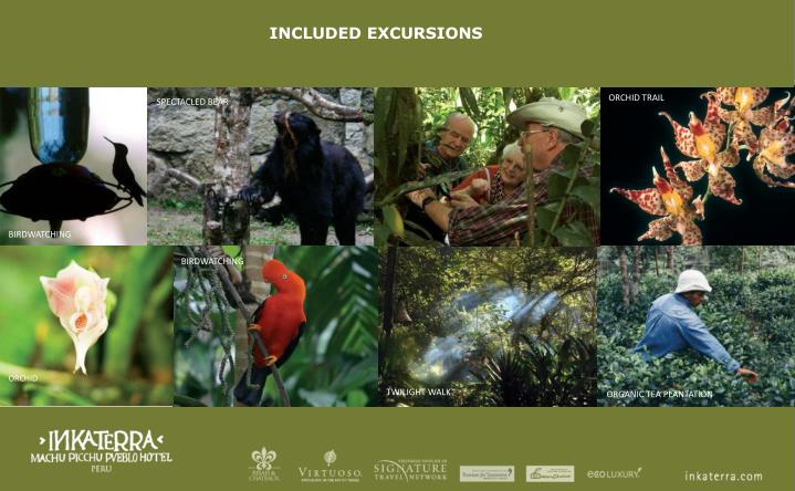 INCLUDED EXCURSIONS