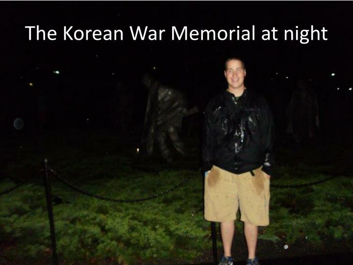 The Korean War Memorial at night