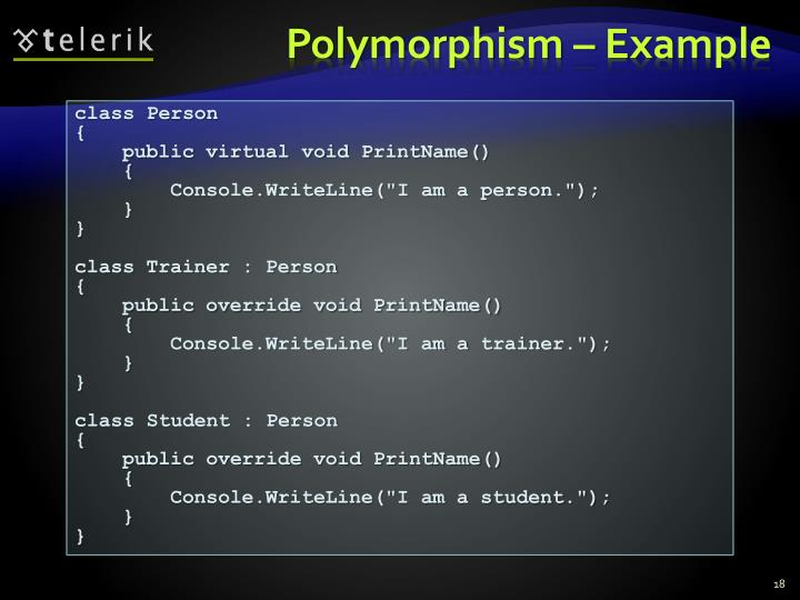 Polymorphism – Example