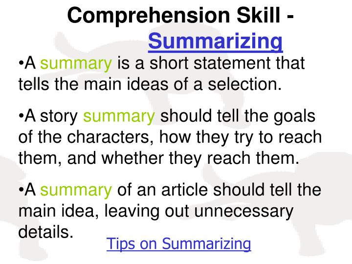 Comprehension Skill -