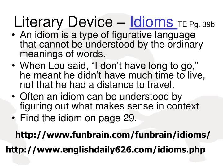 Literary Device –