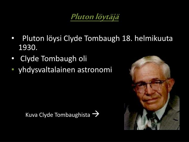 Pluton löytäjä