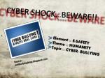 cyber shock beware