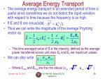 average energy transport