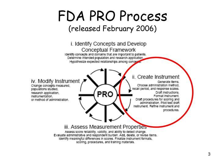 FDA PRO Process