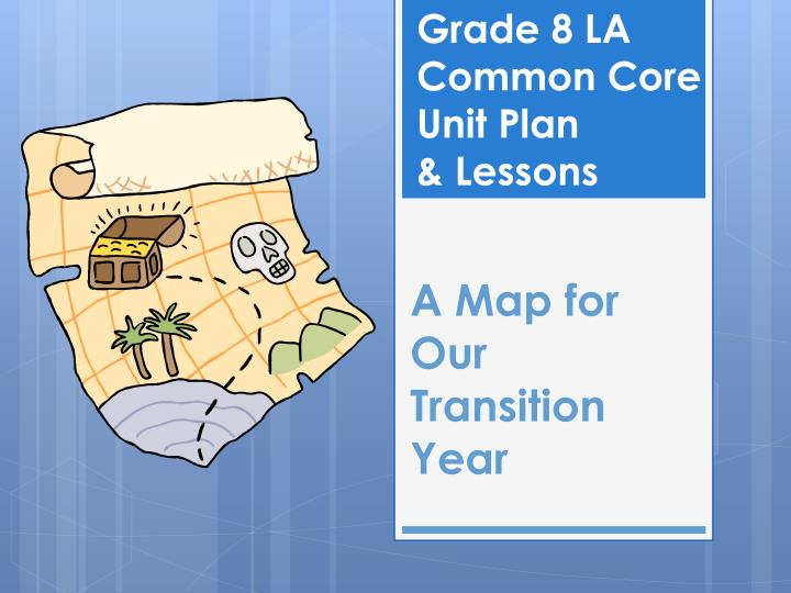 A map for our transition year