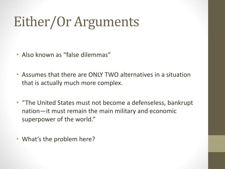 Either/Or Arguments