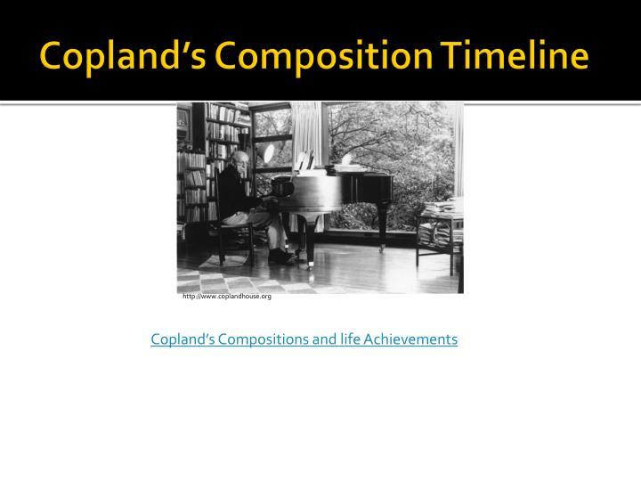 Copland's Composition Timeline