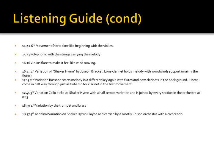 Listening Guide (