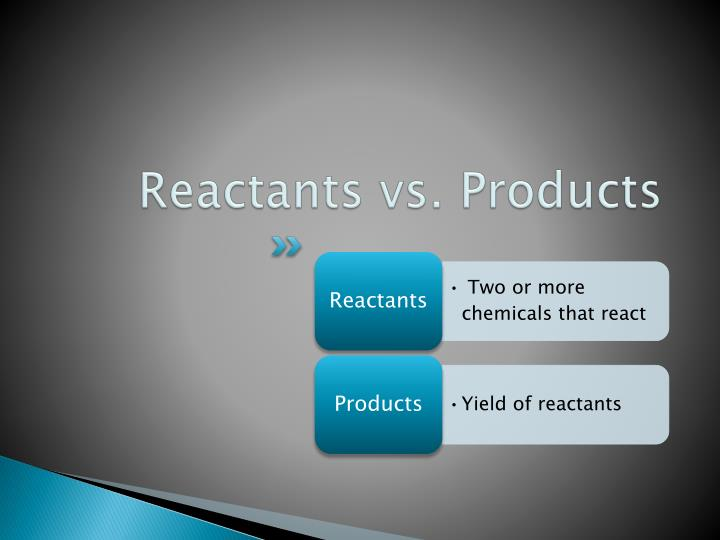 Reactants vs. Products